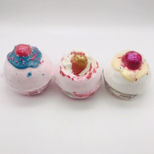 Trio Bombes de bain Fruits rouges